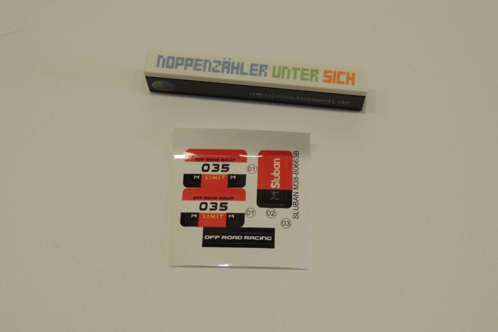 16 cm² Stickerbogen.