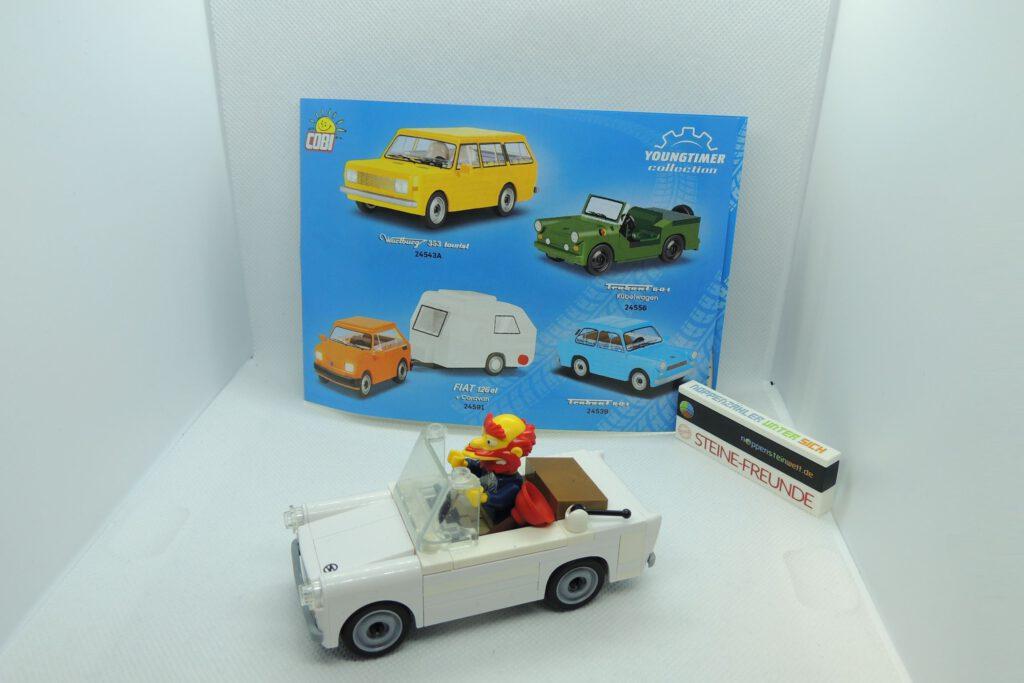 Trabi-Roadster-Mod aus Cobi, Lego, Sluban, usw.