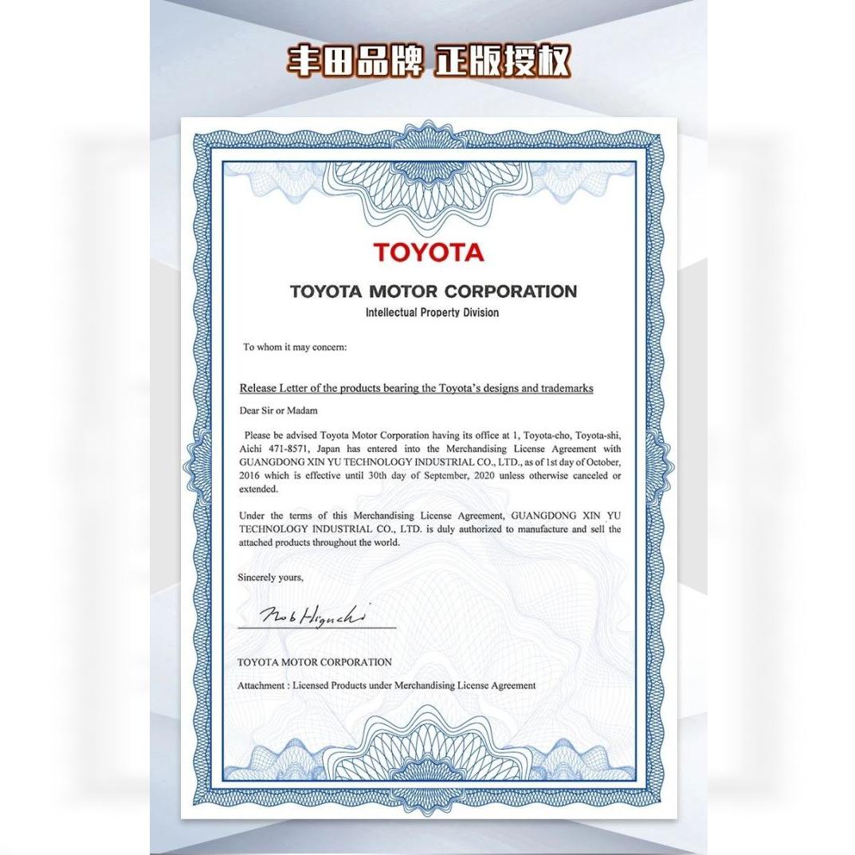Lizenz von Toyota an Xinyu/Happy Build, bzw. deren Mutterhaus.