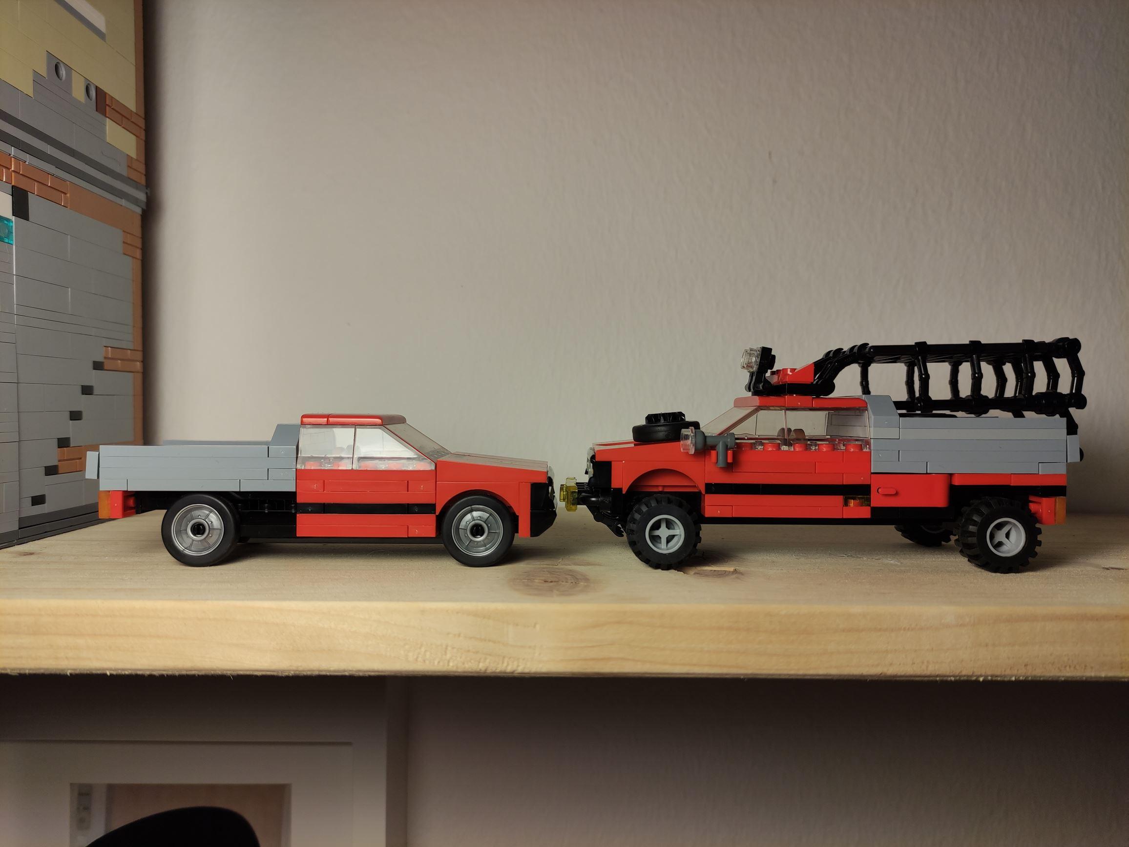 Der Vergleich mit einem normalen Truck.