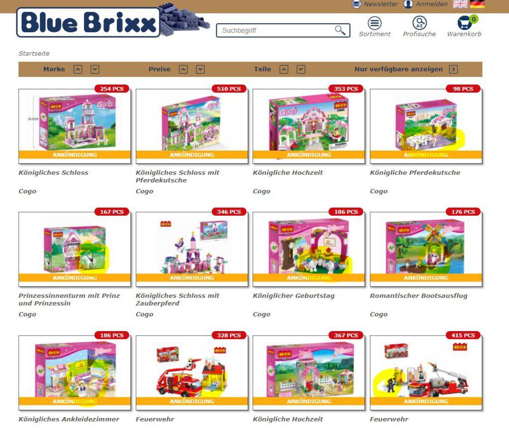 Screenshop Bluebrixx Cogo vom 03.02.2021