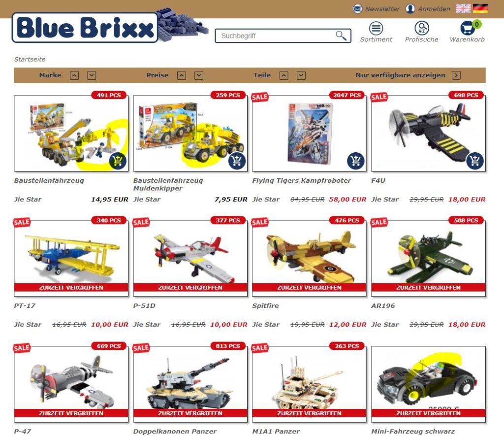 Screenshot Bluebrixx Jie Star