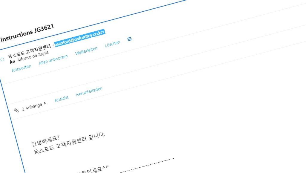 Traritrara, die Post aus Korea ist da!