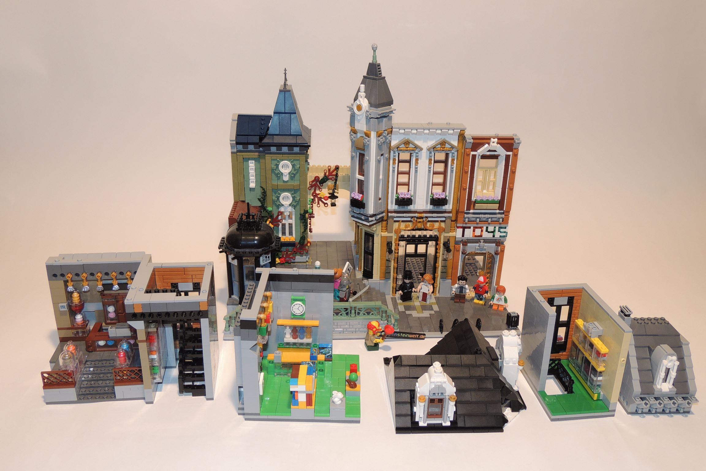 Der Toy-/AFOL-Square zerlegt in seine Module.
