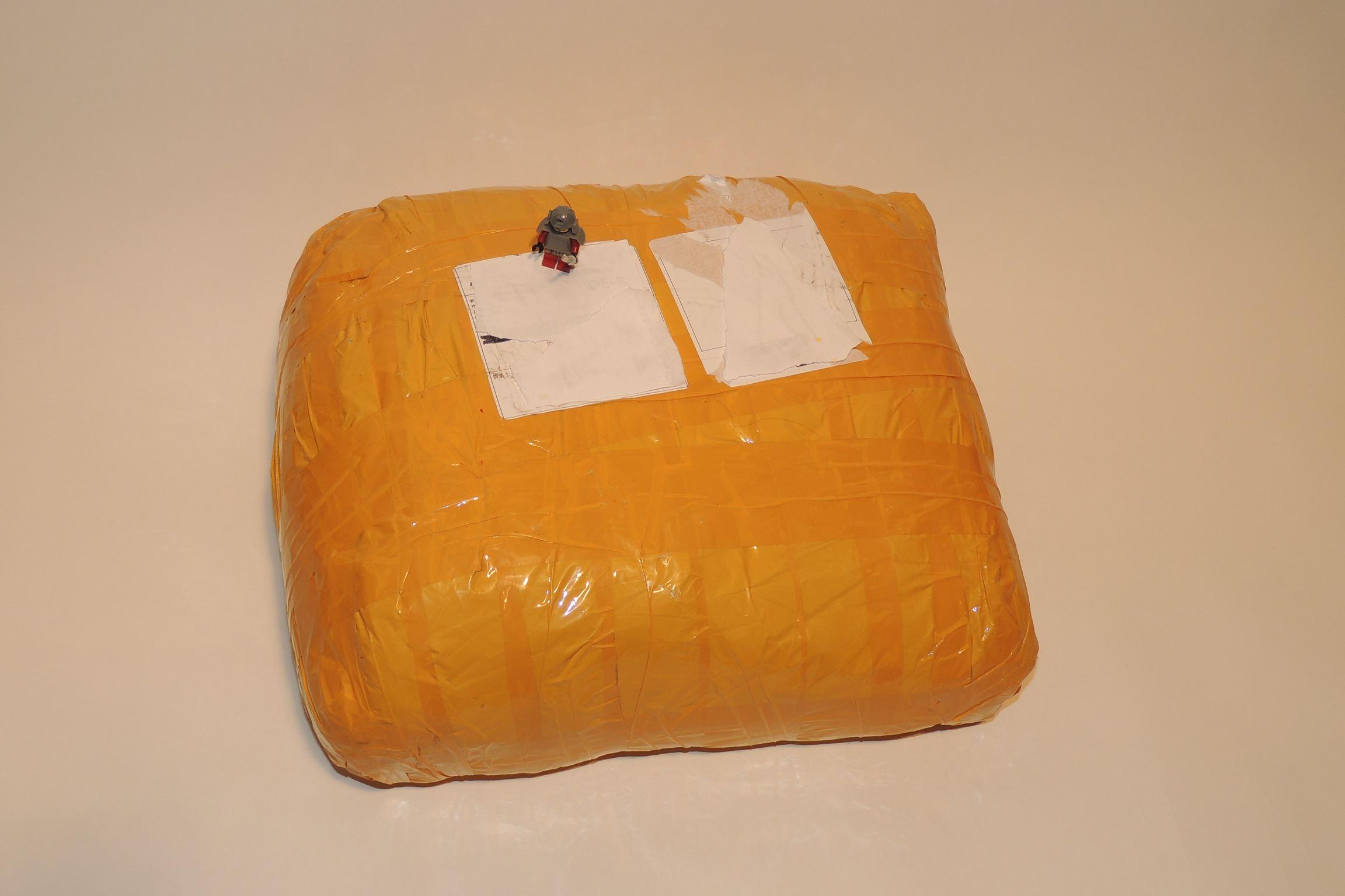 Ein Plastikbeutel mit 5,4 kg aus China ist gekommen.