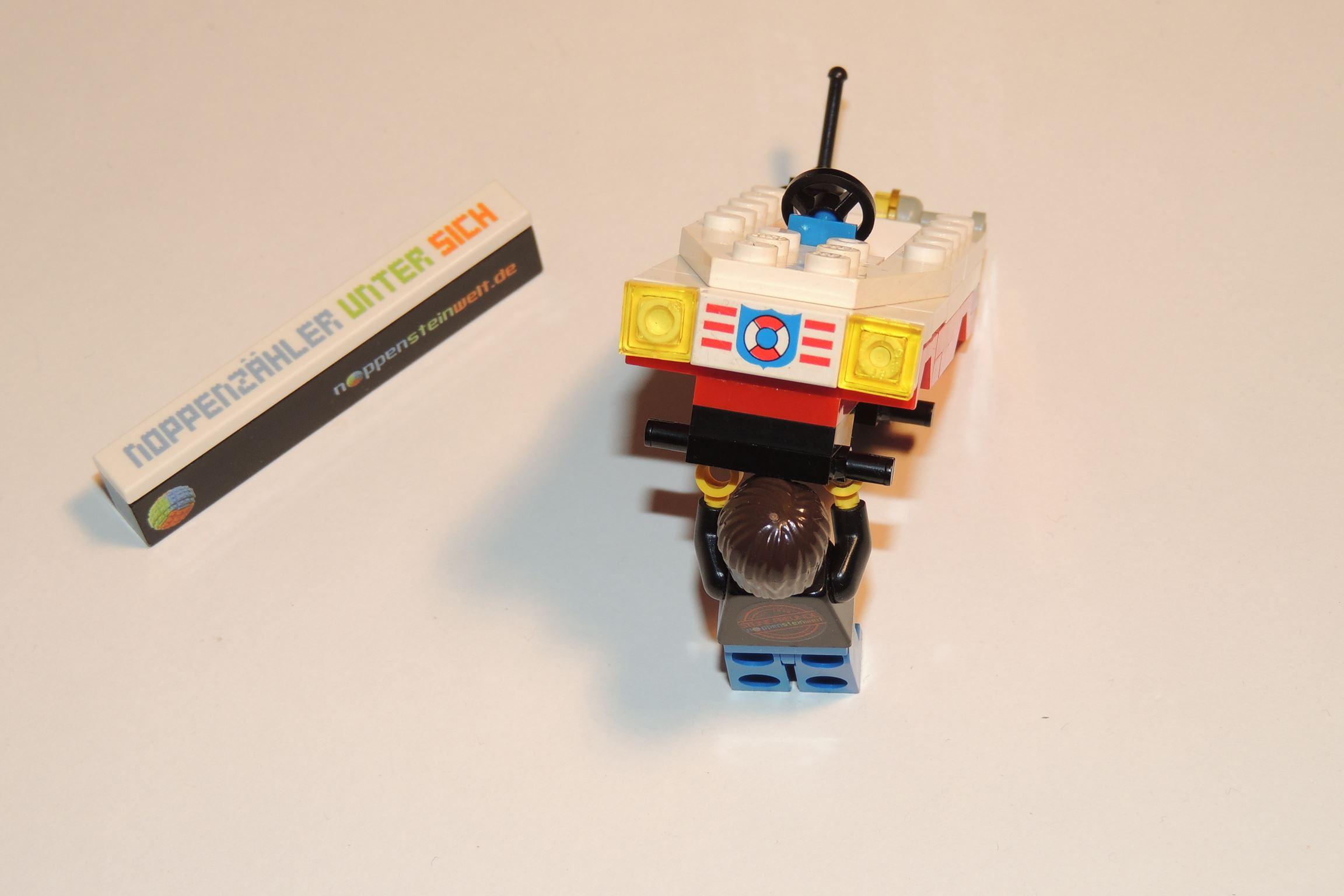 Beifahrerseite 1×1 Plate in Transgelb von Steinchenexpress. Farbe wie Lego.