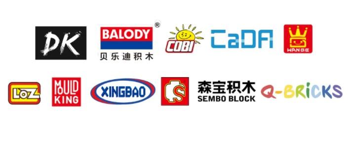 Mal ein paar Marken, die das Bausteinreich so im Angebot hat.