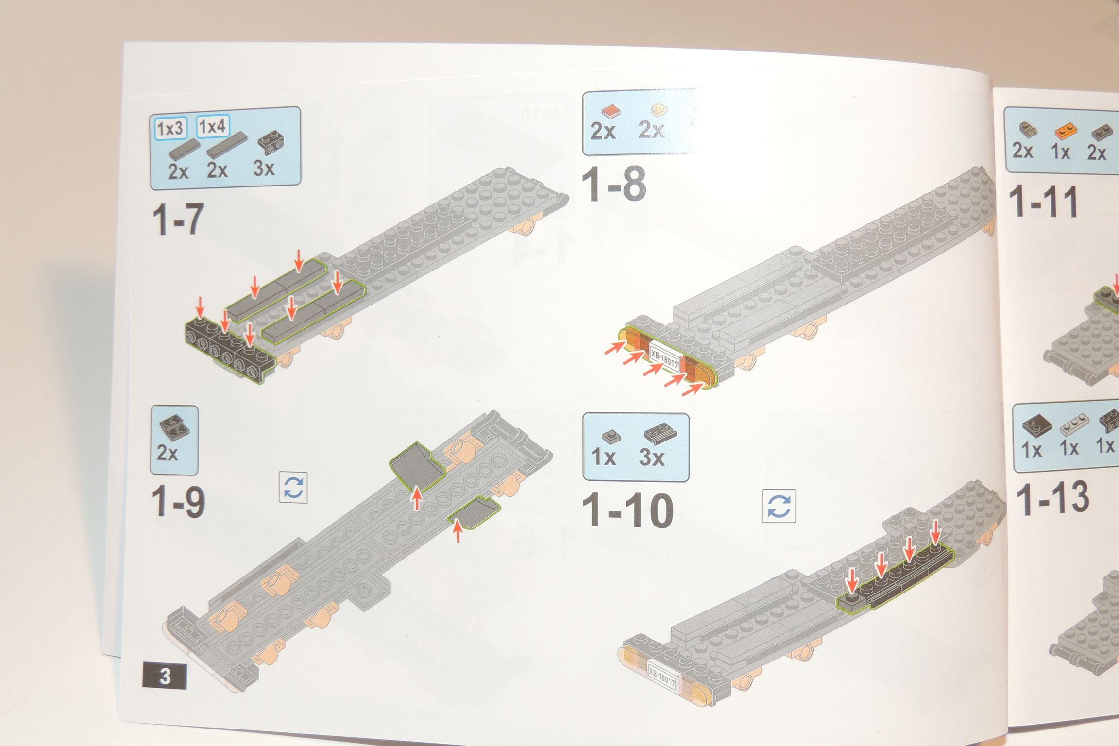 Aktuelle Teile werden kräftig dargestellt, der Rest verblasst.