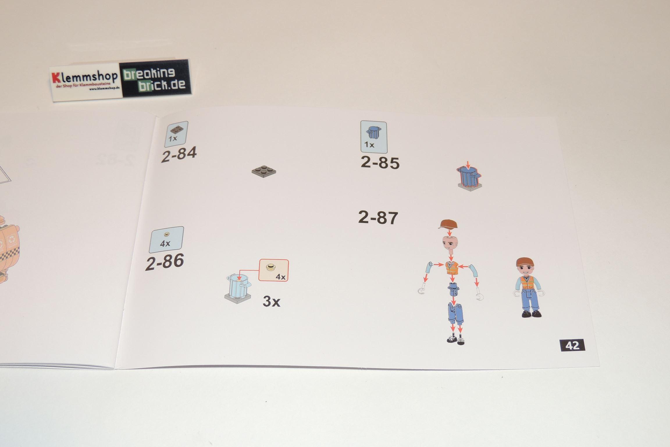 Nach 42 Seiten ist der Spaß vorbei. Minifigur wird am Ende erklärt.