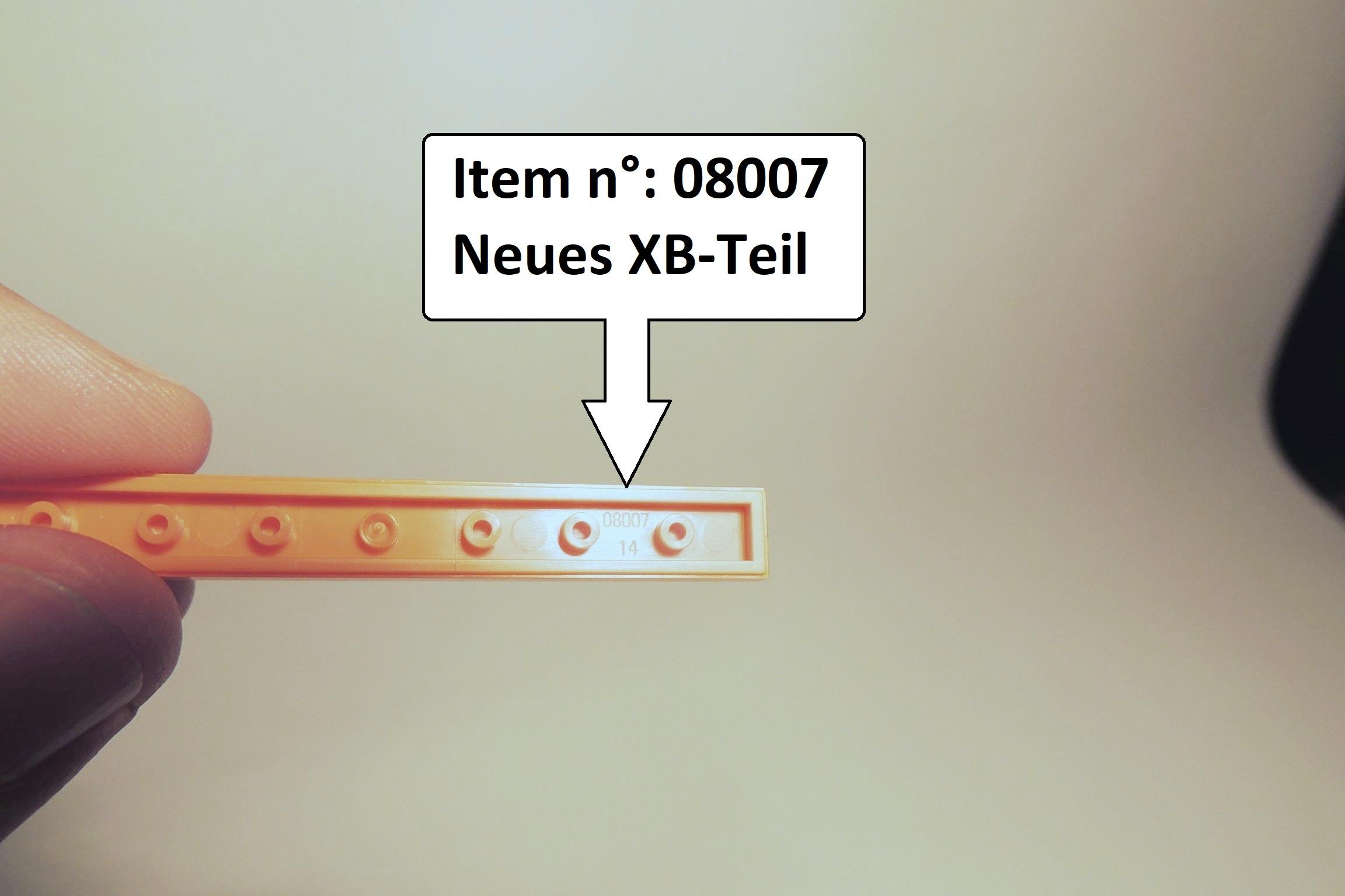 Teilenummer 08007 für die 1×8 Fliese - neu.