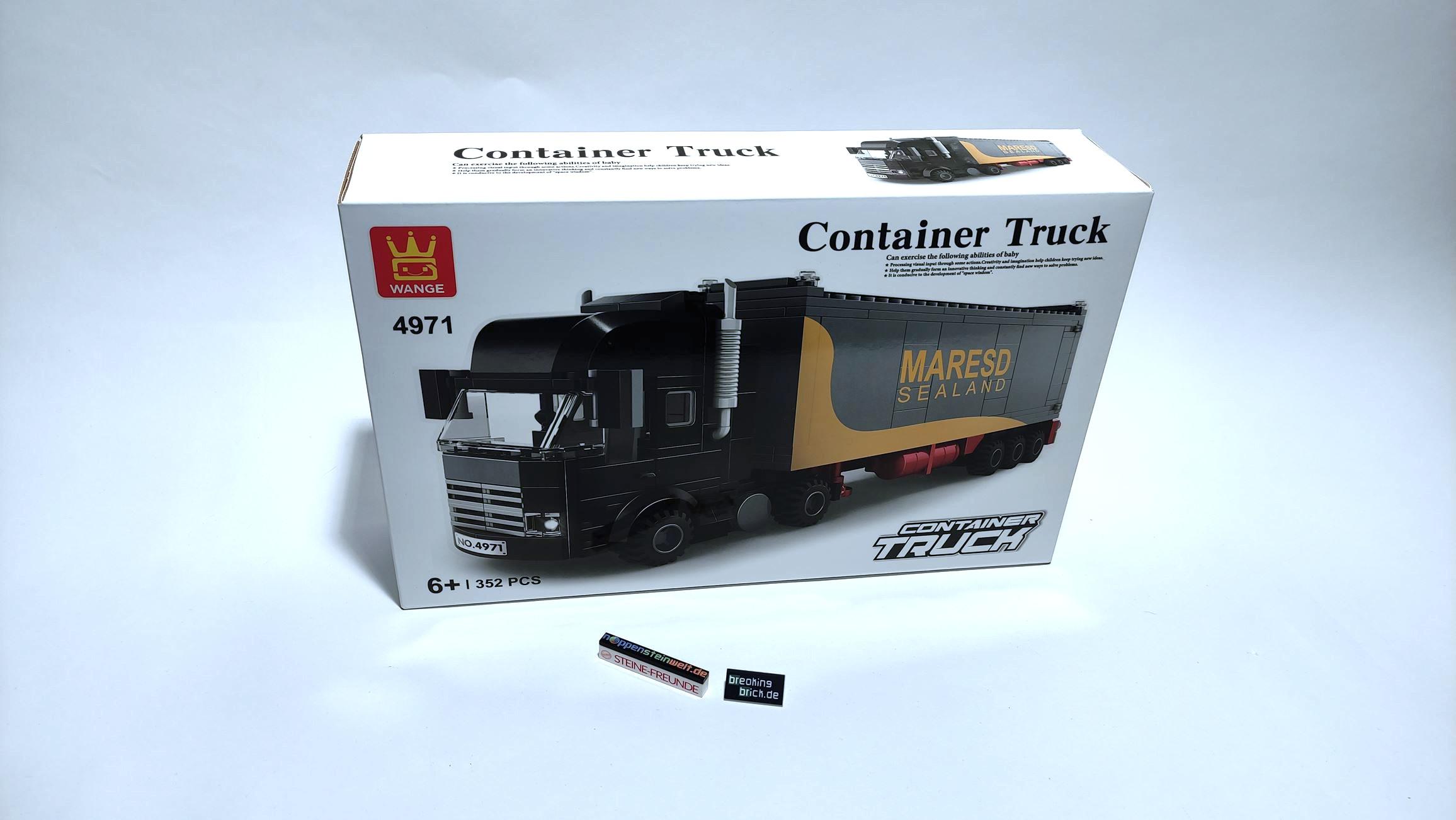 """Ich weiß nicht, wie oft man """"Container Truck"""" drucken kann."""