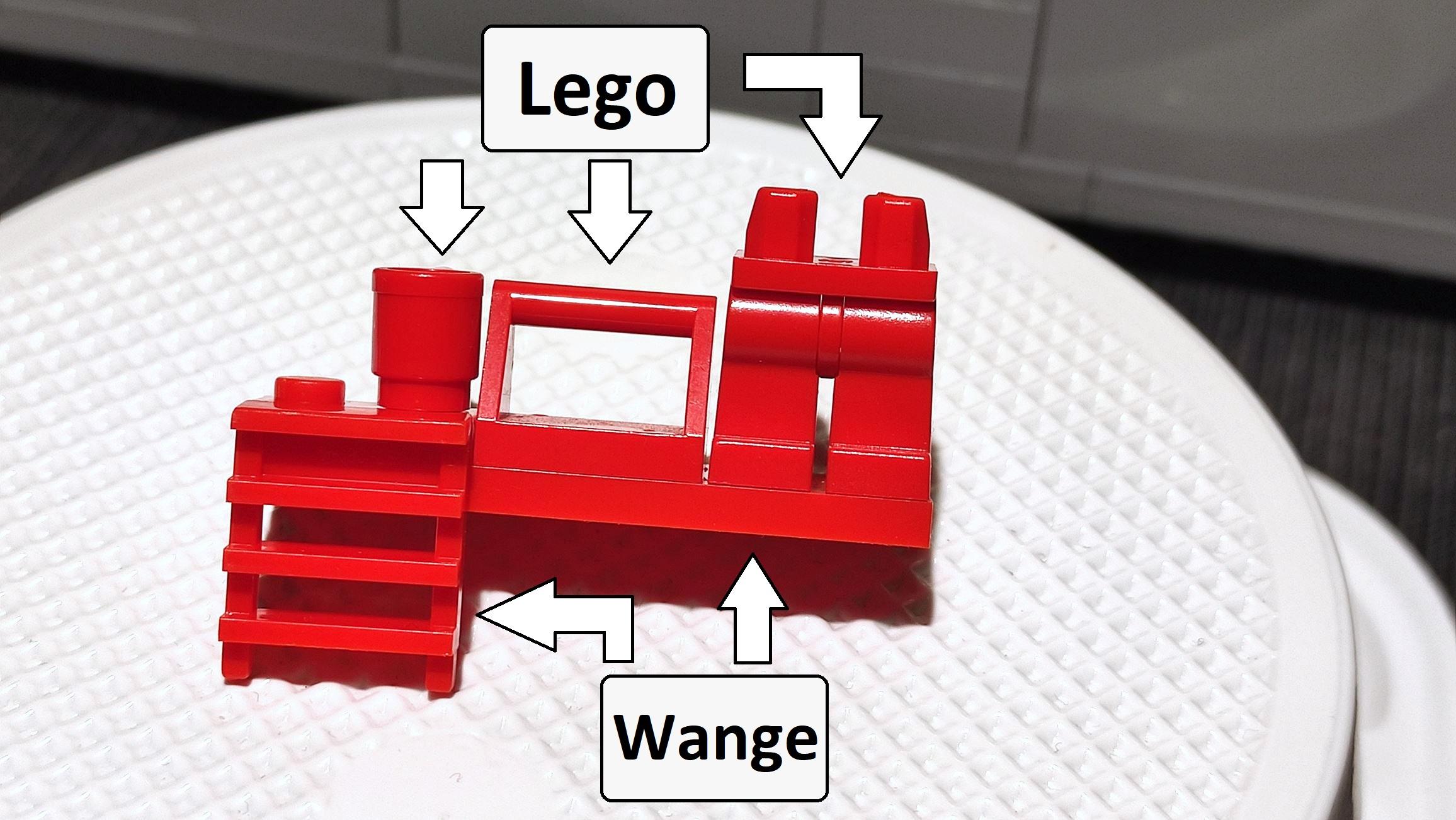 Lösung: Oben Lego, unten Wange.